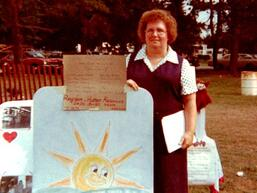 Mary Smith 1978 at Homecoming - Horizon first Registration