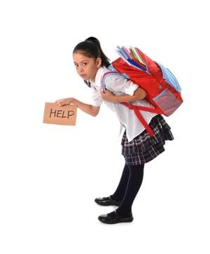 backpack too heavy